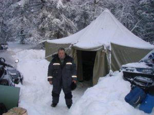 Вынужденный ночлег под Яман-тау, самой высокой вершиной Южного Урала. Минус 25.