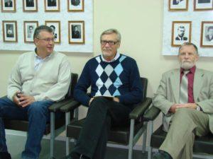 С Александром Михайловым и Виктором Курьяновым, заместителем директора по персоналу Приборостроительного завода по производству ядерного оружия в закрытом городе Трехгорном.