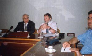 В Сирии, в Дамаске во главе делегации Союза писателей России, переговоры с председателем Союза писателей Сирии Аля Акля Арсаном.