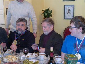 1839 В застолье в Мемориальном доме-музее С.Т.Аксакова после эстафеты Олимпийского огня. Обсуждение будущей экспедиции